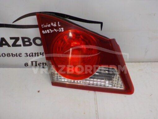 Фонарь задний левый внутренний (в крышку) Honda Civic 4D 2006-2012  34156SNBG02 б/у