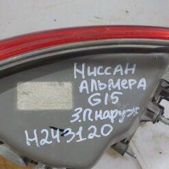 Фонарь задний правый наружный (в крыло) Nissan Almera (G15) 2013>  265504AA0A 2