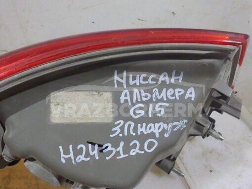 Фонарь задний правый наружный (в крыло) Nissan Almera (G15) 2013>  265504AA0A