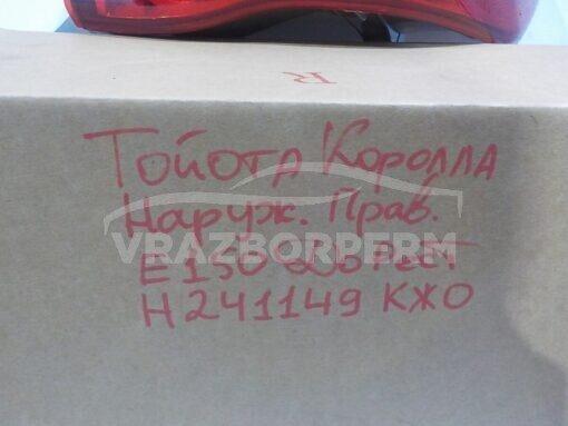 Фонарь задний правый наружный (в крыло) Toyota Corolla E15 2006-2013  8155112A10