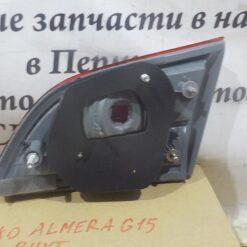 Фонарь задний левый внутренний (в крышку) Nissan Almera (G15) 2013>  265554AA1A 2
