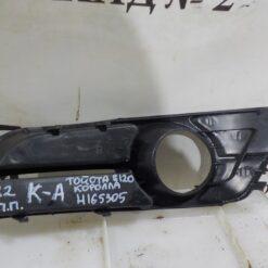 Решетка бампера переднего правая (под ПТФ) Toyota Corolla E12 2001-2007 5212702120 1