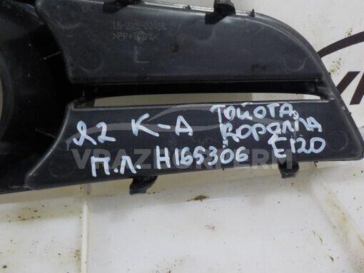 Решетка бампера переднего левая (под ПТФ) Toyota Corolla E12 2001-2007  5212802110