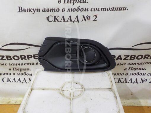 Решетка бампера переднего левая (без ПТФ) Renault Logan II 2014>  263311420R