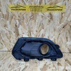 Решетка бампера переднего правая (под ПТФ) Renault Logan II 2014> 263316043R 1