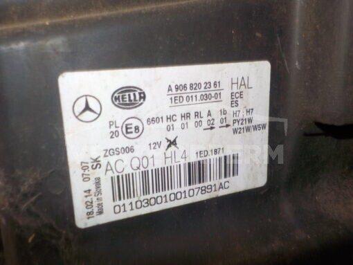 Фара левая перед. Mercedes Benz Sprinter (906) 2006>  A9068202361