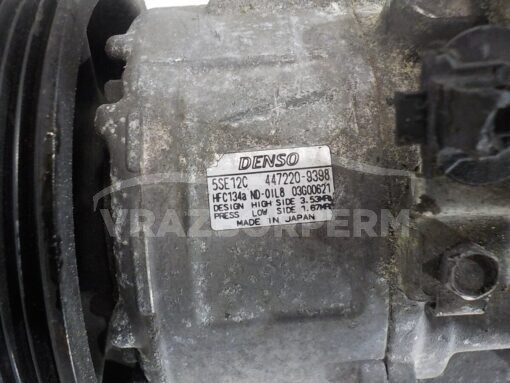 Компрессор кондиционера Toyota Avensis II 2003-2008 5SE12C 4472209398 HFC134A 8831005090, 883102B691