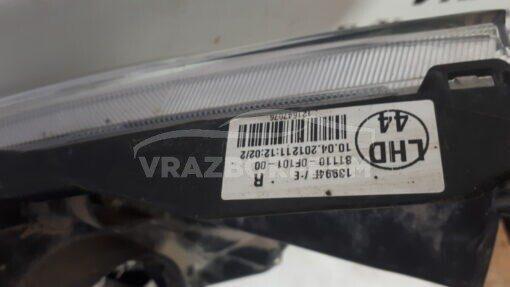 Фара правая перед. Toyota Verso 2009>  811100F101