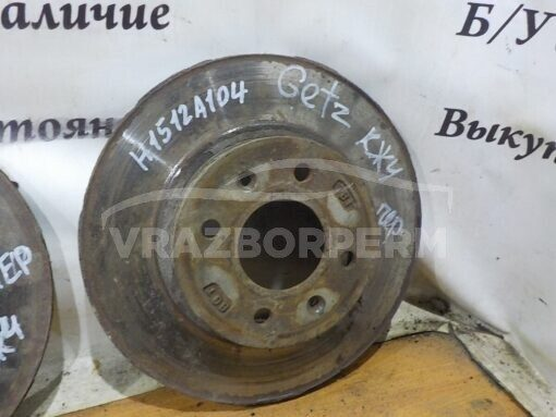 Диск тормозной передний вентилируемый Hyundai Getz 2002-2010  517121C050