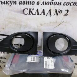 Решетки бампера переднего под ПТФ (к-кт) Renault Logan II 2014>  261528359R 1