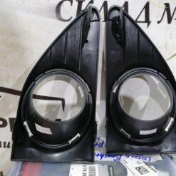Решетки бампера переднего под ПТФ (к-кт) Renault Logan II 2014>  261528359R 2