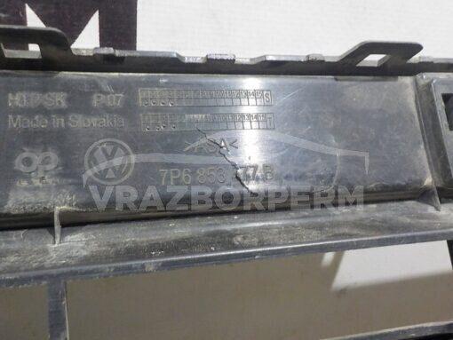 Решетка бампера переднего центр. Volkswagen Touareg 2010-2018  7P6853677B9B9