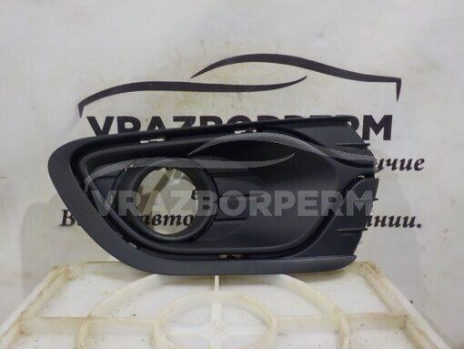 Решетка бампера переднего правая (под ПТФ) Renault Logan II 2014>  263316043R, 263311065R