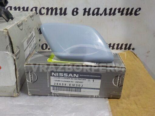 Крышка форсунки омывателя фары правой Nissan Tiida (C11) 2007-2014  28658EM30A, 28658EM30J