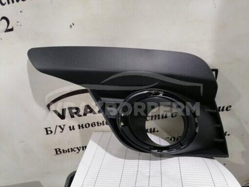 Решетка бампера переднего левая (под ПТФ) Renault Logan II 2014>  261A37637R, 261525931R