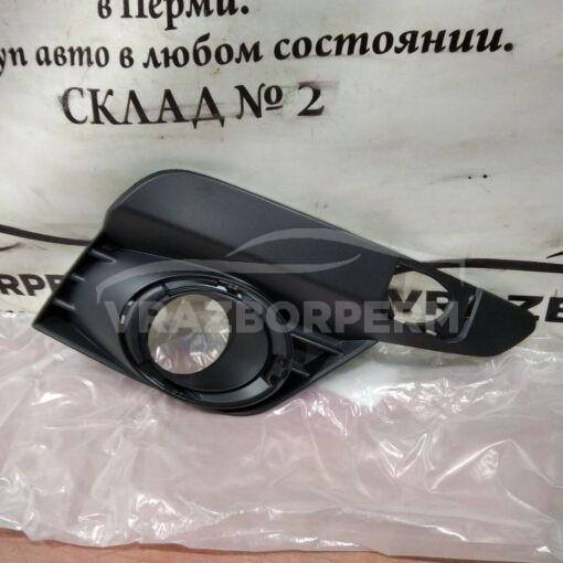 Решетка бампера переднего правая (под ПТФ) Renault Logan II 2014>  261525931R