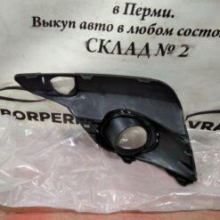 Решетка бампера переднего правая (под ПТФ) Renault Logan II 2014> 261525931R 2