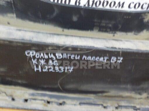 Спойлер бампера (юбка) задн. Volkswagen Passat [B7] 2011-2015   3AE807521A,  3AE807521