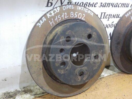 Диск тормозной задний Opel Insignia 2008-2017  569127, 19372209, 19347602